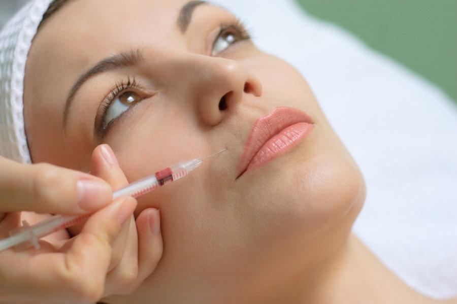 Процедура озонотерапии на лице