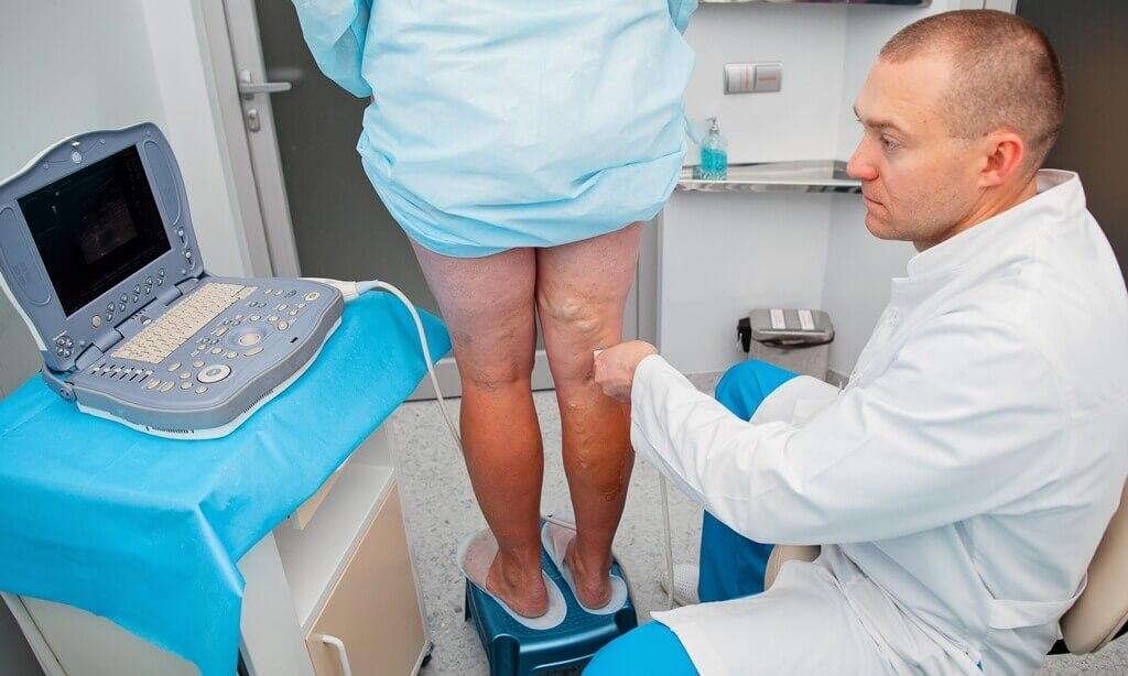 Обследование пациентаи диагностика повреждённых вен