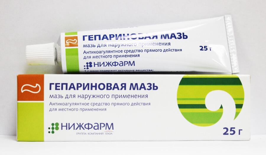 Гепариновая мазь - устраняет отек и воспаление