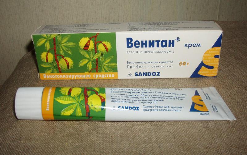 Активные компоненты крема Венитан