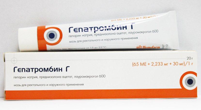 Мазь гепатромбин г инструкция