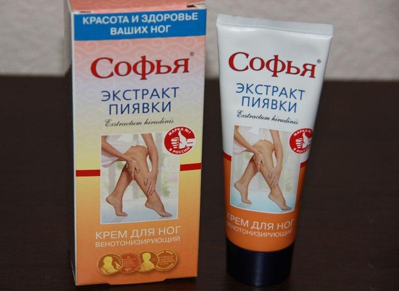 Состав крема Софья с пиявками для ног