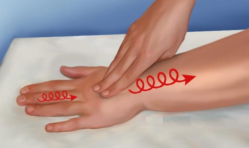 Массаж руки при лимфостазе