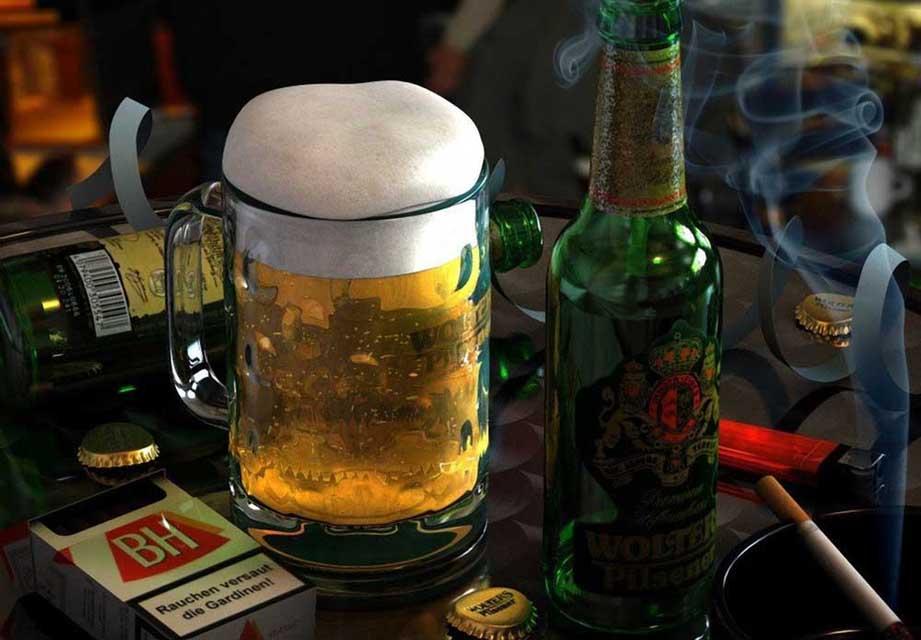 Причина заболевания атеросклерозом - курение и алкоголь