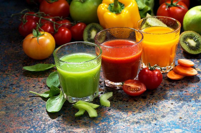 Соки из различных овощей и фруктов