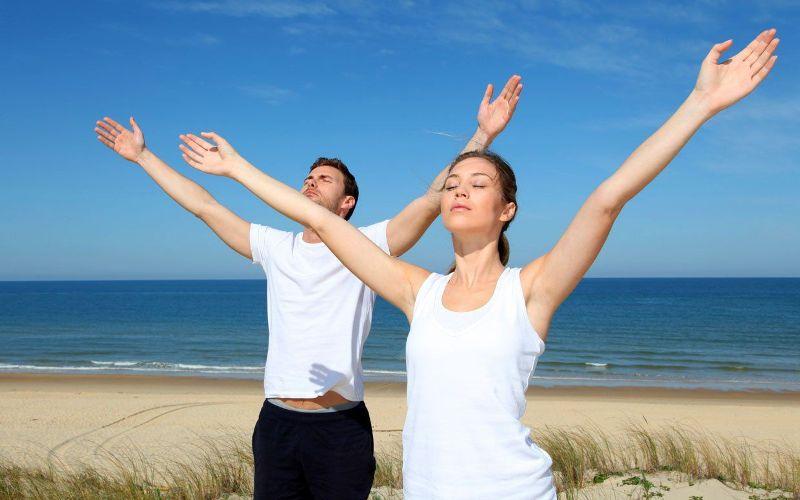 Дыхательные упражнения на свежем воздухе