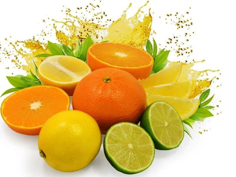 Свежие цитрусовые фрукты