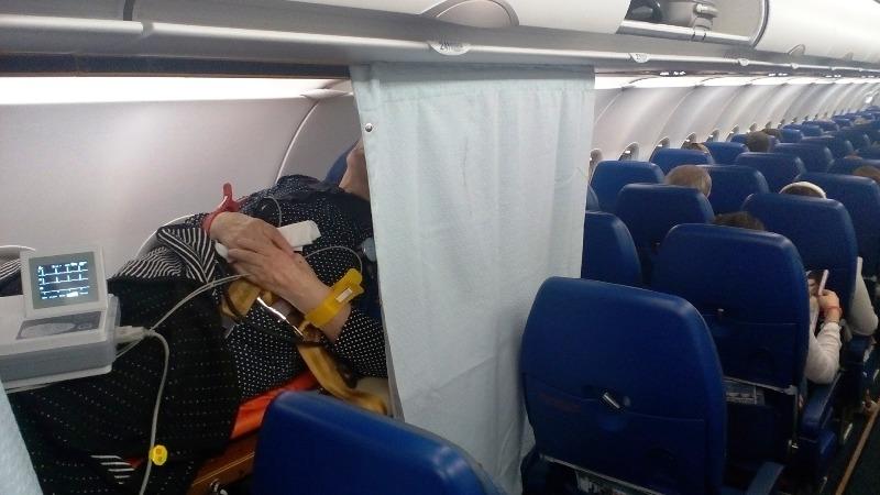 Медицинский уголок для пассажиров у которых ухудшилось самочувствие
