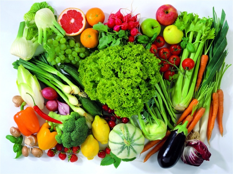 Набор полезных для здоровья продуктов