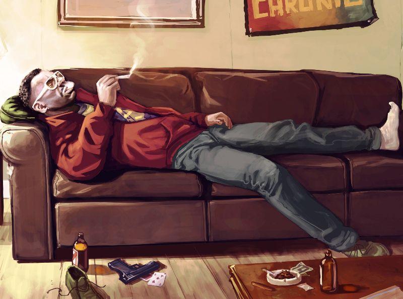 Курение, пьянство и малоподвижный образ жизни