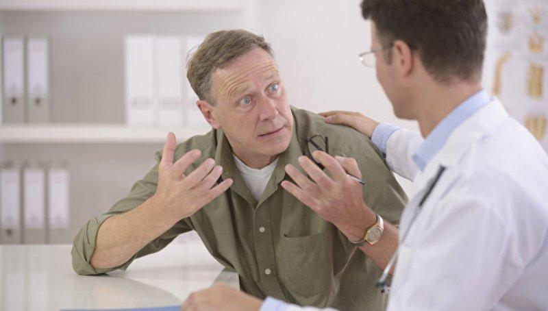 Разговор врача со встревоженным пациентом