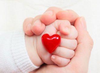 Маленькое детское сердечко