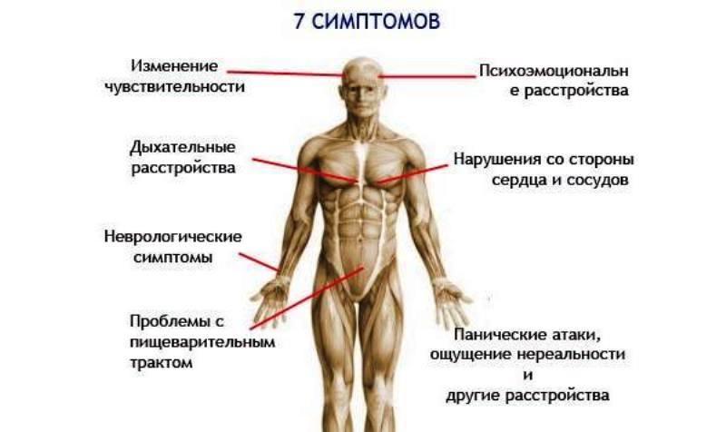 Основные симптомы ВСД
